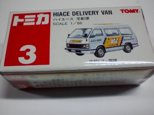 Tomica red box 3 Hiace courier Pelican 1 66 red TOMY logo Miniature Car
