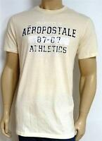 Aeropostale 87-07 Athletics Tee Ivory Off-white T-shirt 100% Cotton