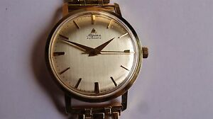 Details about ALPINA dauphine hands 14k solid gold vintage watch uhr  automatic