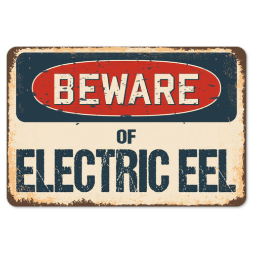 Beware Of Electric Eel Rustic Sign SignMission Classic Plaque Decoration