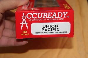 ACCURAIL-82032-50-039-COMBO-DOOR-BOX-CAR-UNION-PACIFIC-RTR-NEW-2ND