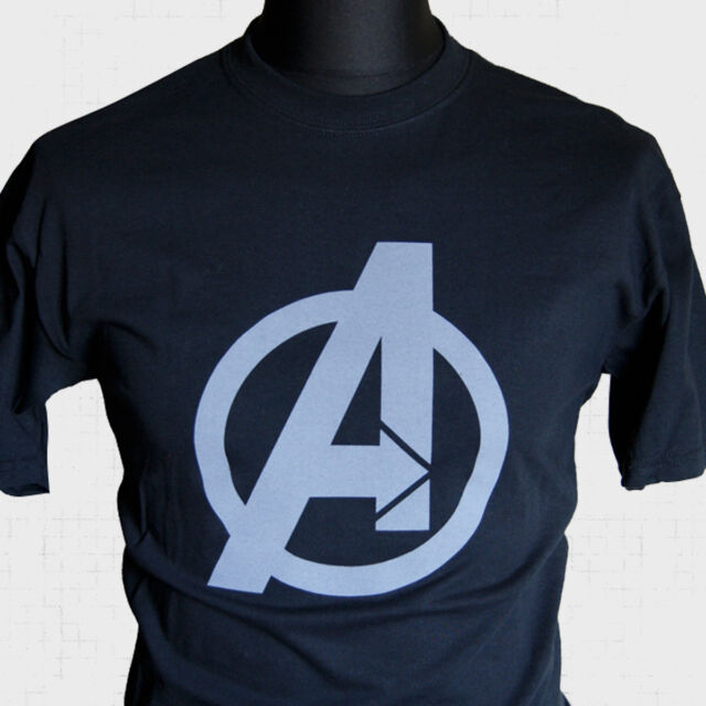 The Avengers Logo T Shirt Super Hero Hulk Iron Man Captain America Assemble