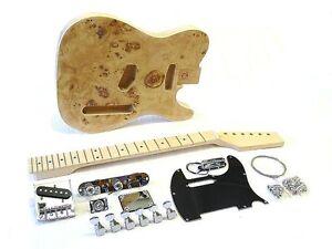 e gitarren bausatz guitar diy kit ml esche wurzel top ebay. Black Bedroom Furniture Sets. Home Design Ideas