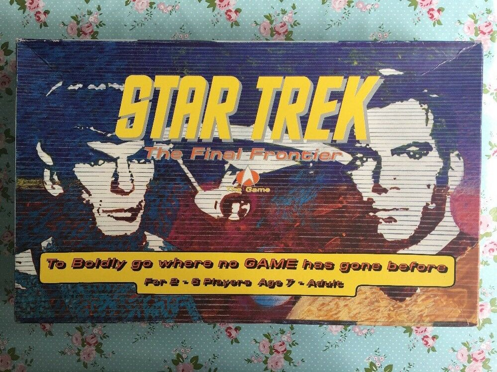 Rare 1992 Star Trek Enterprise The Final Frontier 2 x Board Game Sets with Spare