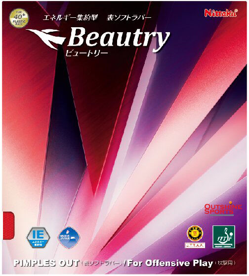 Nittaku Beautry Short Pimples Table Tennis Rubber 40+ use