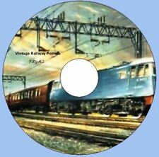 Vintage UK Railway Trains Posters Pictures on one CD Rom