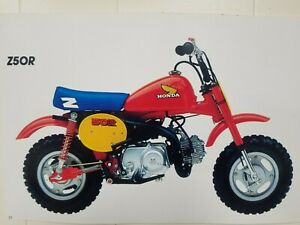 HONDA TANK DECALS REPRO Z50R 1993