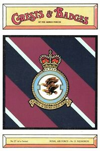 Postcard-RAF-Royal-Air-Force-No-11-Squadron-Crest-Badge-No-27-NEW