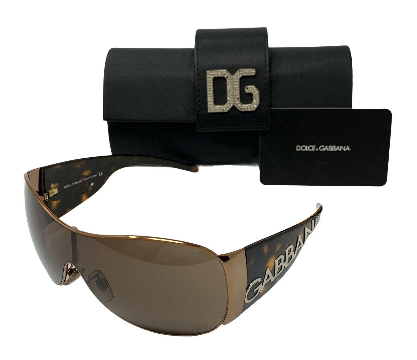 DOLCE&GABBANA Logo Sunglasses Shades Accessories Brown Silver RankAB