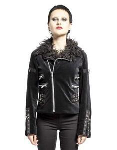 Atomic Vegan Leather Motorcycle Gothic Punk Faux Metal Biker Moto Band Jacket