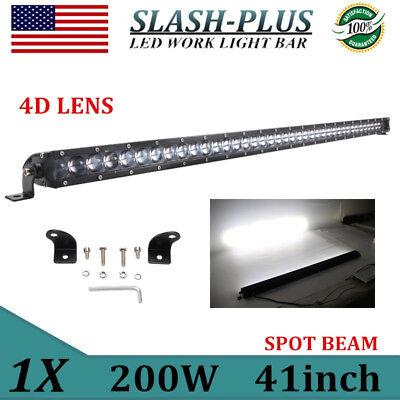 41inch 200W Single Row LED Work Light Bar Offroad Spot Beam Fog 4D Lens PK  40/42 | eBay