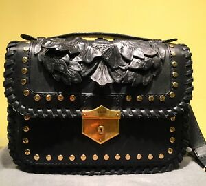 Image Is Loading Alexander Mcqueen Leather Leaves Bag