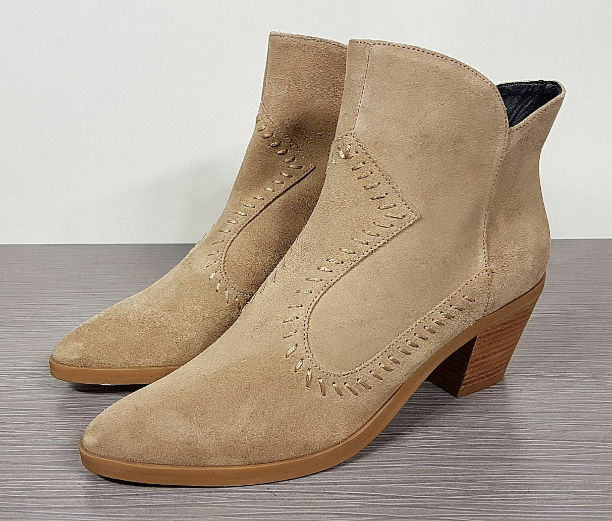 Rebecca Minkoff Lulu Bootie, Taupe Suede, Womens Size 8.5