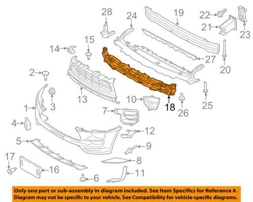 PORSCHE OEM 17-18 Macan Front Bumper Grille-Absorber 95B807550E