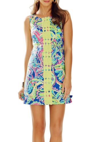 $198 Lilly Pulitzer Delia Toucan Play Print Lace Front Shift Dress