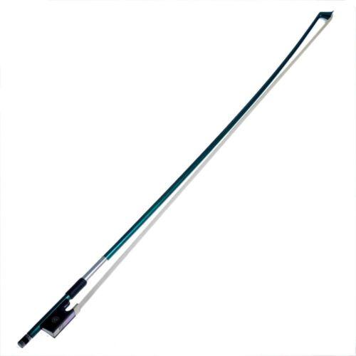 Ebony Frog Green Carbon Fiber Violin Bow 4//4