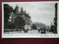 POSTCARD RP LONDON LEWISHAM - HIGH ST & FIRE STATION C1910
