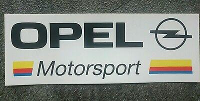 Aufkleber Opel Motorsport Rarität! Ein Kunststoffkoffer Ist FüR Die Sichere Lagerung Kompartimentiert