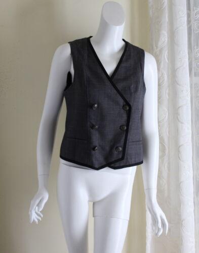 en S veste à boutonnage Bone sz Rag laine double qxpaUW