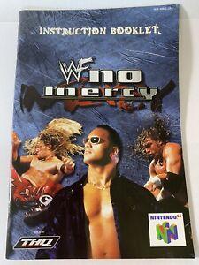 FOLLETO de Instrucciones Manual Solamente Para WWF No Mercy para N64 Nintendo 64 (sin Juego)