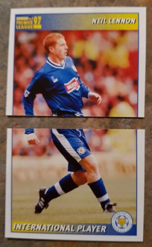 1997 Unused Football Stickers Leicester City Various Players Merlin 97