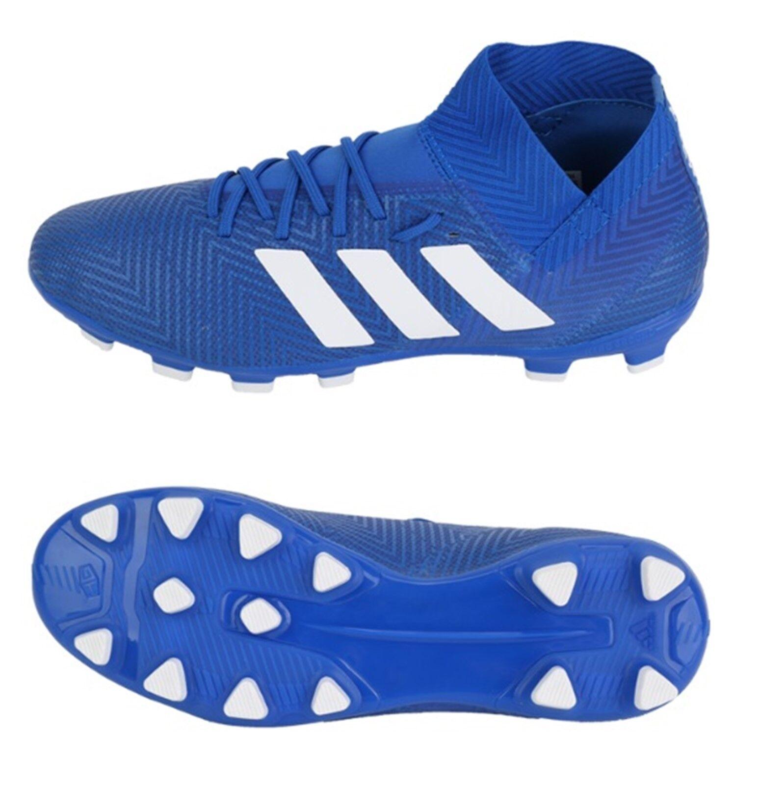 Adidas Men NEMEZIZ 18.3 HG Cleats bluee Soccer Football shoes Boots Spike BB6984