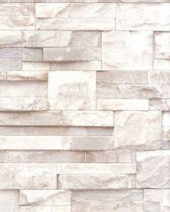 slate stone brick wall 3d effect textured vinyl wallpaper beige j27407 3294270274071 ebay. Black Bedroom Furniture Sets. Home Design Ideas
