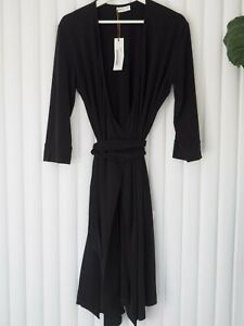 MADISON-ROSE-Women-039-s-NWT-Beautiful-Black-Wrap-Stretch-Dress-Size-L-RRP-169
