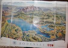 CARTA TURISTICA BODENSEE RELIEFKARTE Cartina Geografica Viaggi Turismo Itinerari