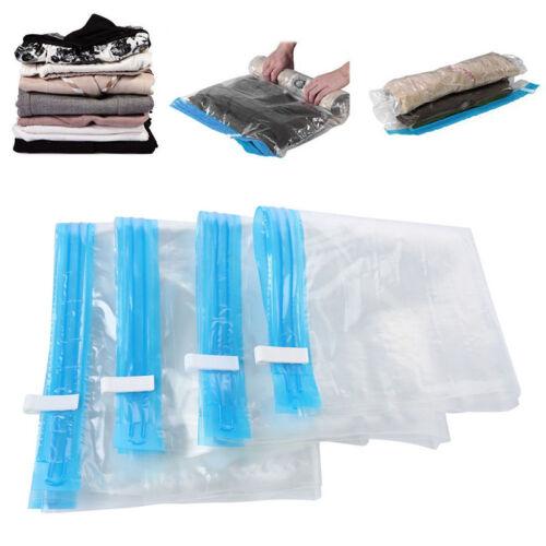 4 Größe Vakuumbeutel Kleideraufbewahrung Aufbewahrungsbeutel Vacuum Bag Tasche.