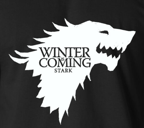 Game of Thrones Winter is Coming T-Shirt House of Stark TV Direwolf Ringspun tee