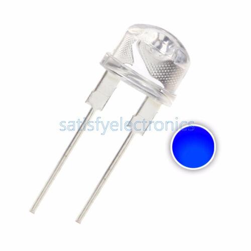 50PCS 8MM Straw Hat 0.5W  Blue LED Light Emitting Diode Blue Light
