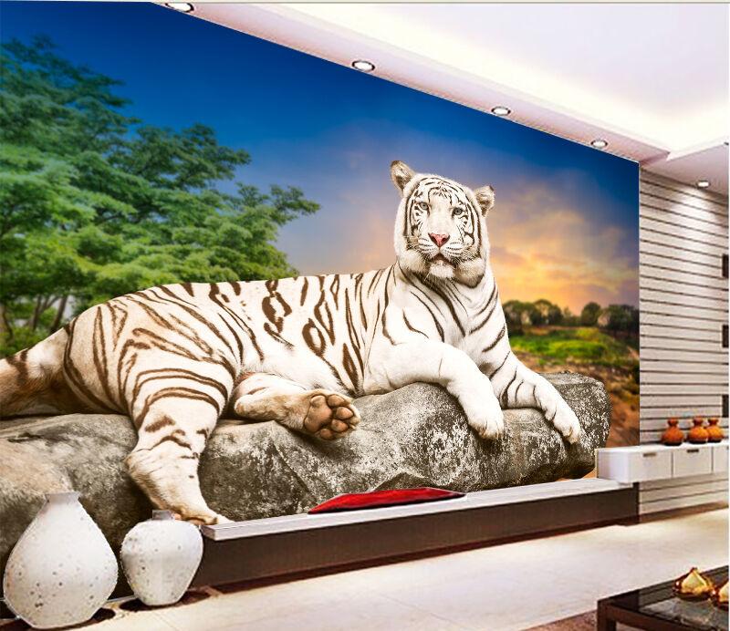 3D Sunset Tiger 37 WallPaper Murals Wall Print Decal Wall Deco AJ WALLPAPER