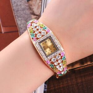 New-Wrist-Watch-for-Girls-kids-Children-Woman-Fashion-Crystal-Gold-Plated-Quartz