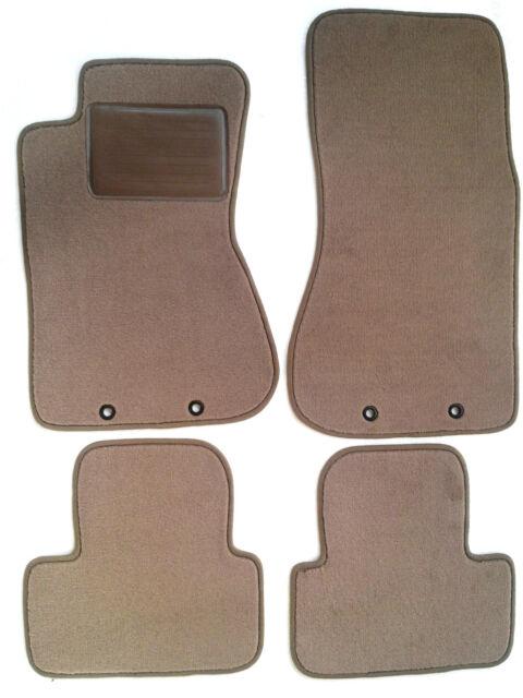 Jaguar S-Type 4pc Beige Tan Replacement Floor Mats Premium Edge - Pad 2000-2002