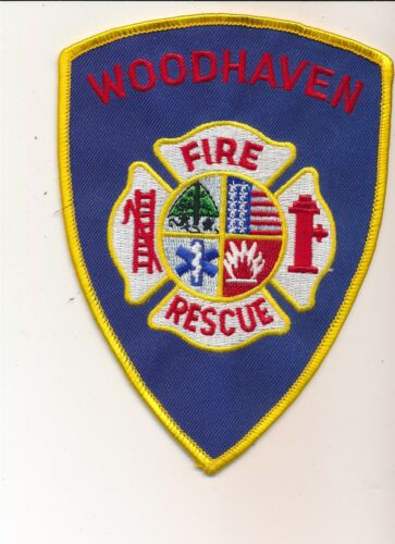 WOODHAVEN FIRE /& RESCUE DEPARTMENT PATCH 5 1//4/""