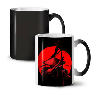 Japanese Warrior NEW Colour Changing Tea Coffee Mug 11 oz   Wellcoda