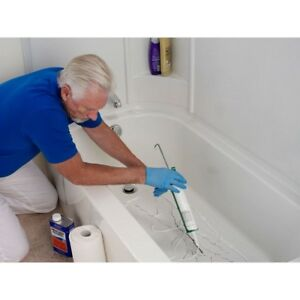 Bathtub Floor Repair Inlay Kit White 16inchwx3inchl Fix