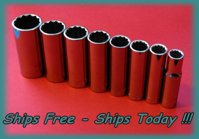 Craftsman 3//8 Drive 12 Pt 13 Piece SAE Standard STD Inch Socket Set