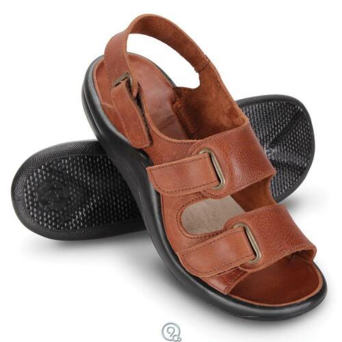 Size 9.5 Gentlemens Walk On Air Strap Sandals CAMEL Brown