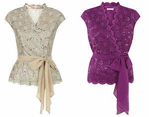 ex-Jacques-Vert-Top-Jacques-Vert-Stretched-Lace-Belted-Cross-Top