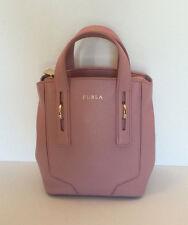 Furla Perla Leather Winter Rose Mini Messenger/Crossbody Purse Small Tote $298