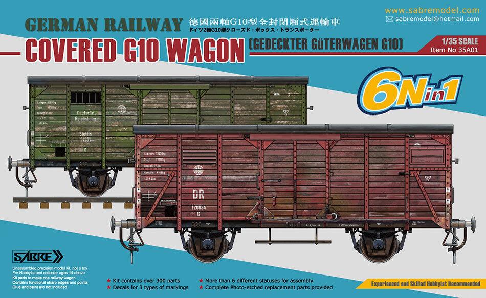 Sabre Model 1 35 A01 German Railway Covered G10 Wagon