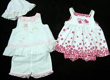 Lot of 2 Baby Girls Pink Summer Outfits Size 0 3 Months