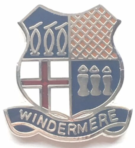 Windermere Small Enamel Lapel Pin Badge T0121