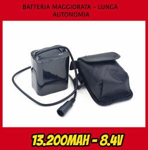 PACCO-BATTERIA-8-4v-MAGGIORATO-13200mah-PER-FARO-LED-BICI-LITIO-BICICLETTA