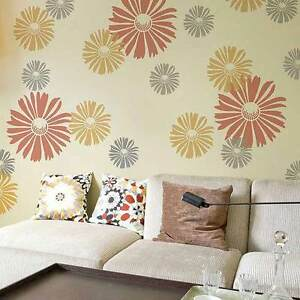 Image Is Loading Happy Daisy Floral Wall Art Stencil EXTRA SMALL