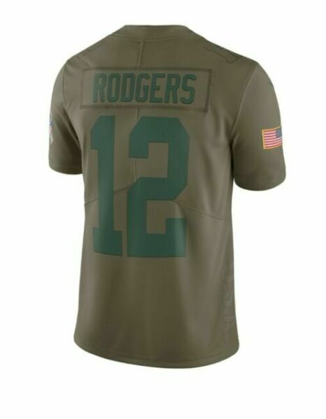 Nike NFL Green Bay Packers Aaron Rodgers Salute to Service Jersey ...
