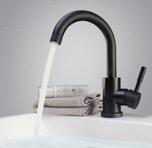 Retro Schwarz Einhebelmischer Wasserhahn Bad Waschbecken Armatur