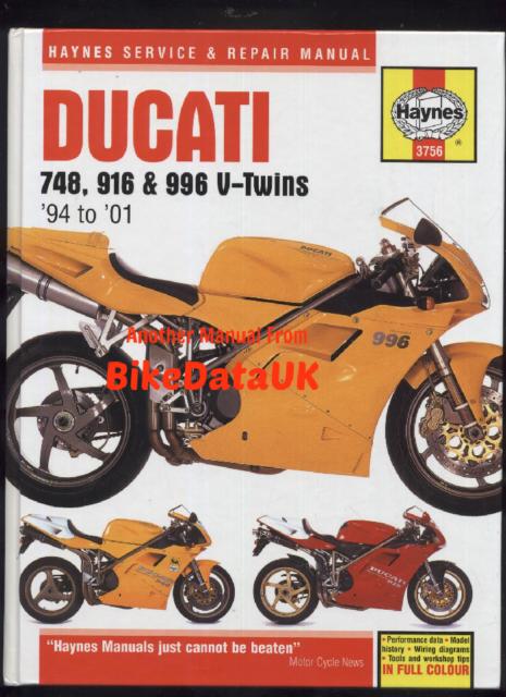 ducati 748 916 996 (94-01) haynes shop manual s sp sps bispoto